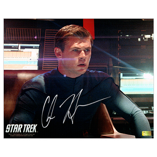 Chris Hemsworth Autographed 8?10 Star Trek George Kirk Photo