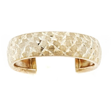 - 10kt Solid Yellow Gold Adjustable Toe Ring In a Diamond-Cut Design