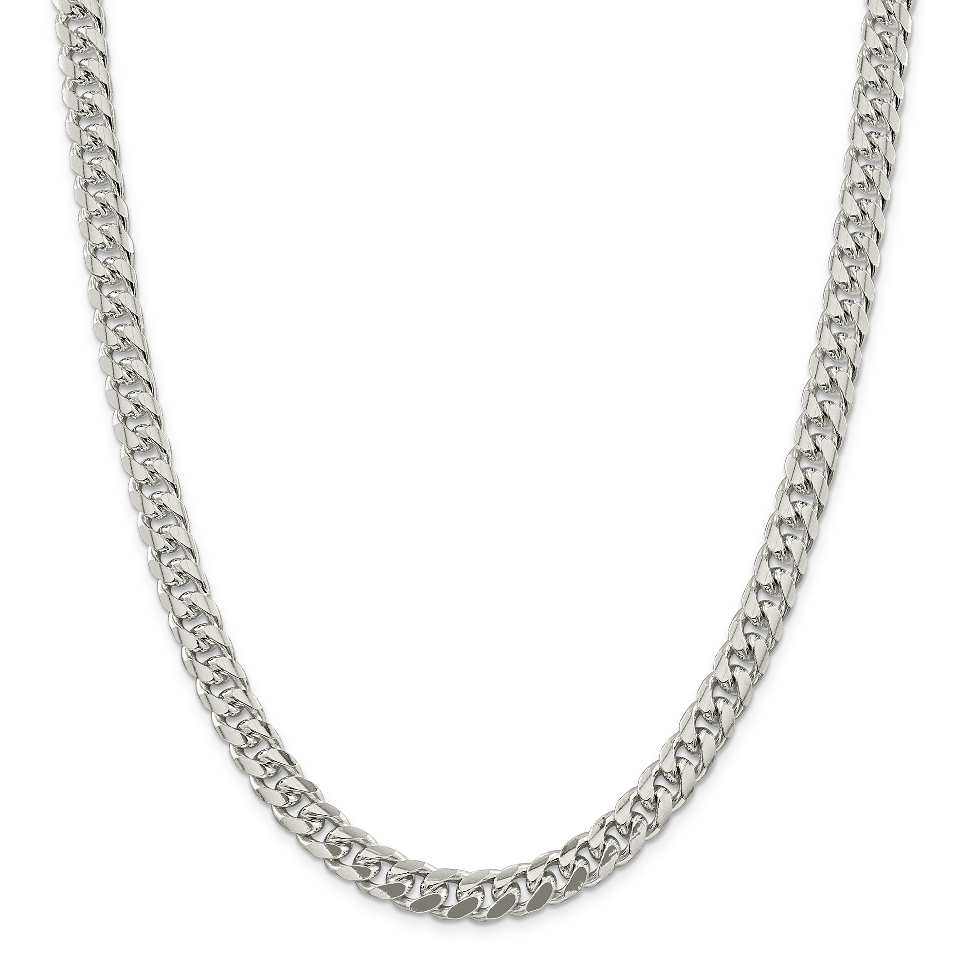 925 Sterling Silver 8.5mm Domed Curb Chain 20 Inch - image 5 de 5