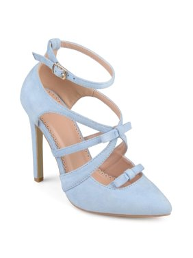 ddd595b1f26 Product Image Women s Faux Suede Pointed Toe Bow Multi-strap Heels