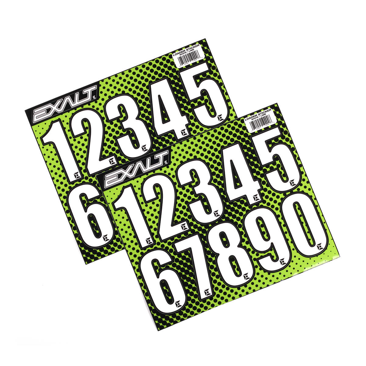 Exalt Paintball Loader Number Stickers - White