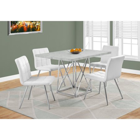 DINING TABLE X GREY CEMENT CHROME METAL Walmartcom - 36 x 48 dining table with leaf