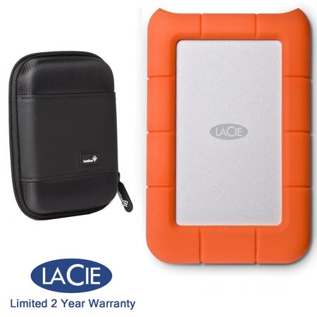 - LaCie Rugged Mini 4TB External Hard Drive 9000633 +Ivation Compact Portable Case