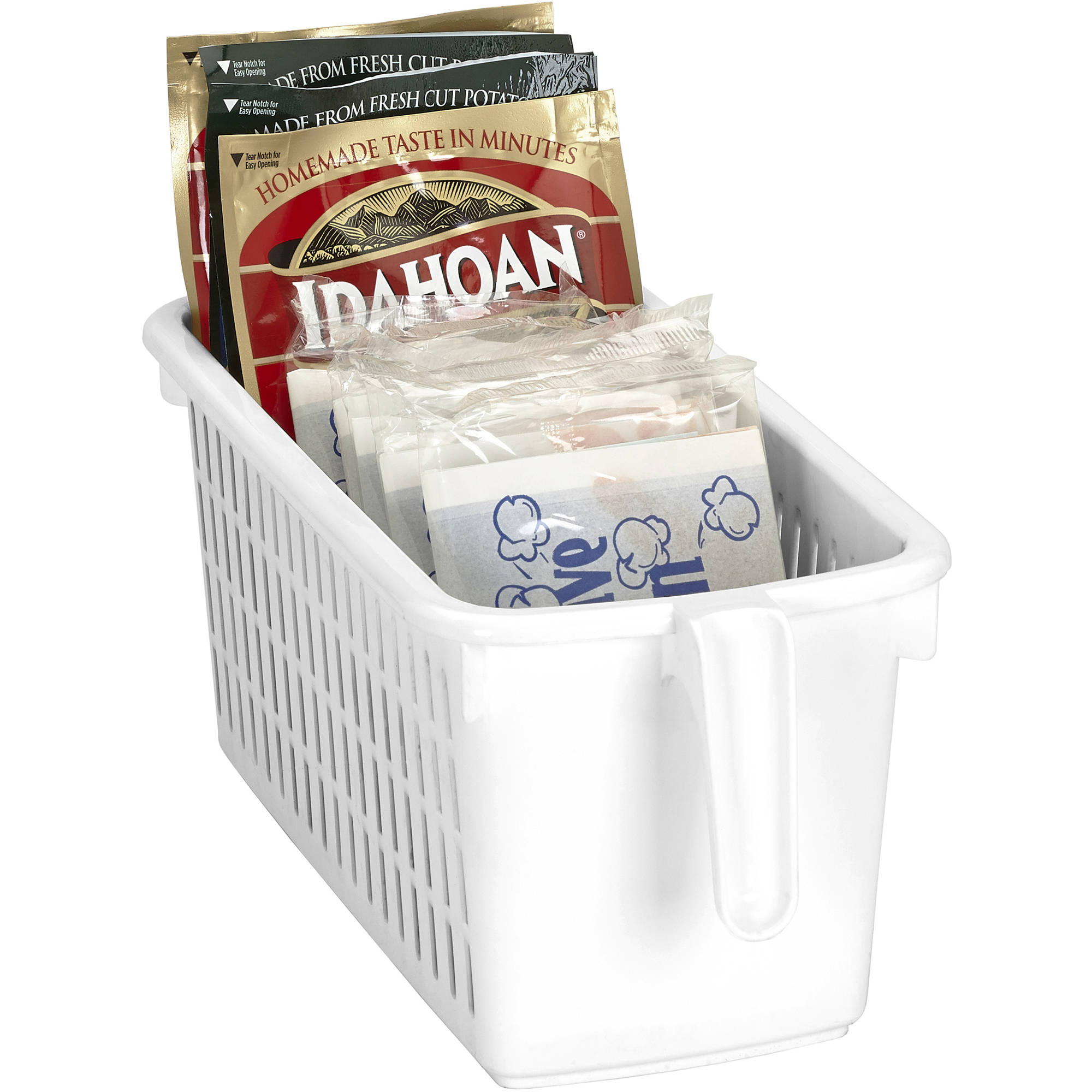 Kitchen Details Easy Pull Pantry Organizer Basket with Handle Grip, Slim