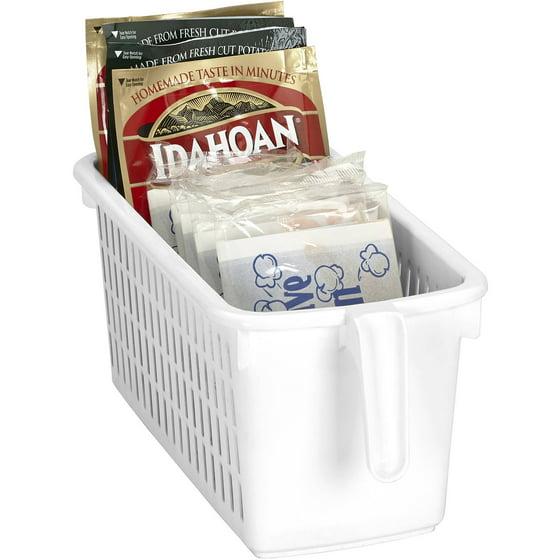 Kitchen Pantry At Walmart: Kitchen Details Easy Pull Pantry Organizer Basket With Handle Grip, Slim