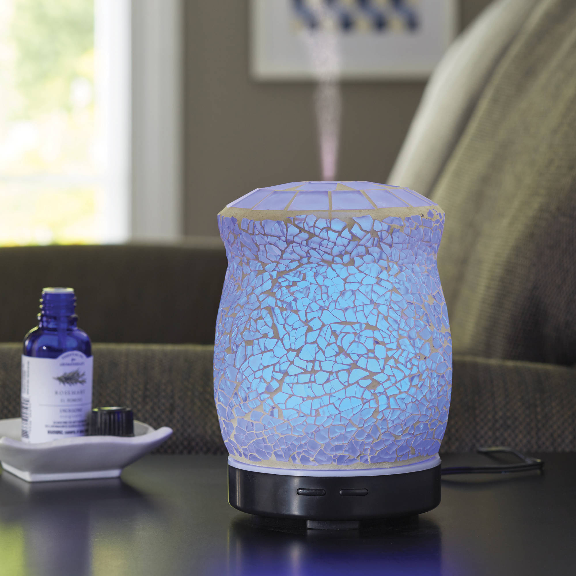 Better Homes And Gardens 100 ML Essential Oil Diffuser, Crackle Mosaic    Walmart.com