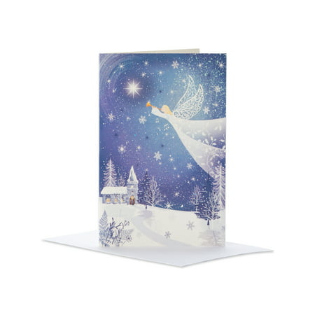 American Greetings Deluxe Angel Christmas Boxed Cards and White Envelopes, 14-Count