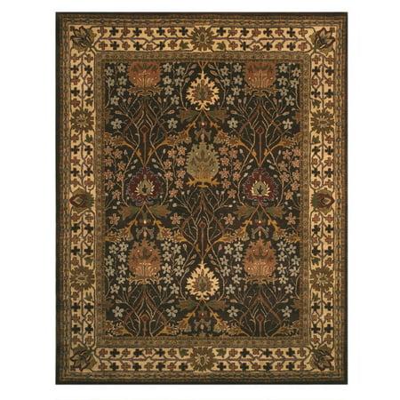 Hand-tufted Wool Brown Traditional Oriental Morris Rug ()