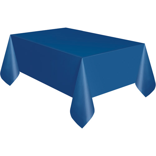 Navy Blue Plastic Table Cover - Rectangle
