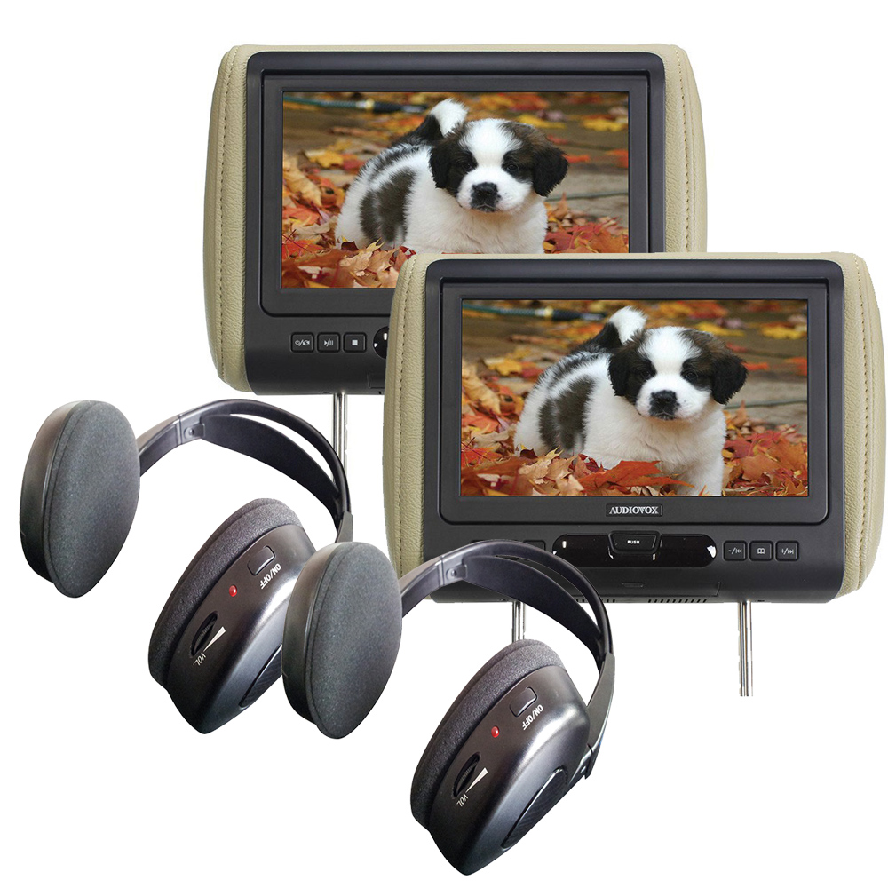 """(2) Audiovox AVXMTGHR9HD 9"""" Headrest Monitor Systems w  Built in DVD Player by Audiovox"""