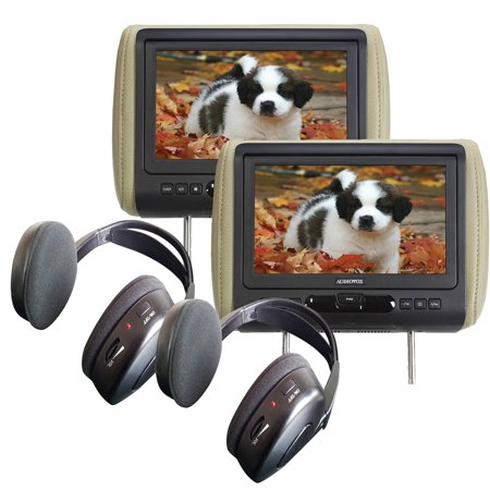 "(2) Audiovox AVXMTGHR9HD 9"" Headrest Monitor Systems w  Built in DVD Player by"