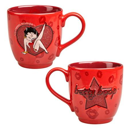 Universal Studios Betty Boop Beaded Ceramic Latte Mug 14 oz New](Betty Boop Happy Birthday)