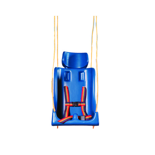 Skillbuilders 30-1631 Full Support Swing Seat with Pommel Medium Teenager with Rope