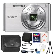 Sony Cybershot W830 20.1MP Compact Digital Camera Silver with Complete Accessory Bundle - Best Reviews Guide
