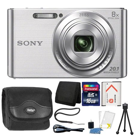 Sony Cybershot W830 20.1MP Compact Digital Camera Silver with Complete Accessory