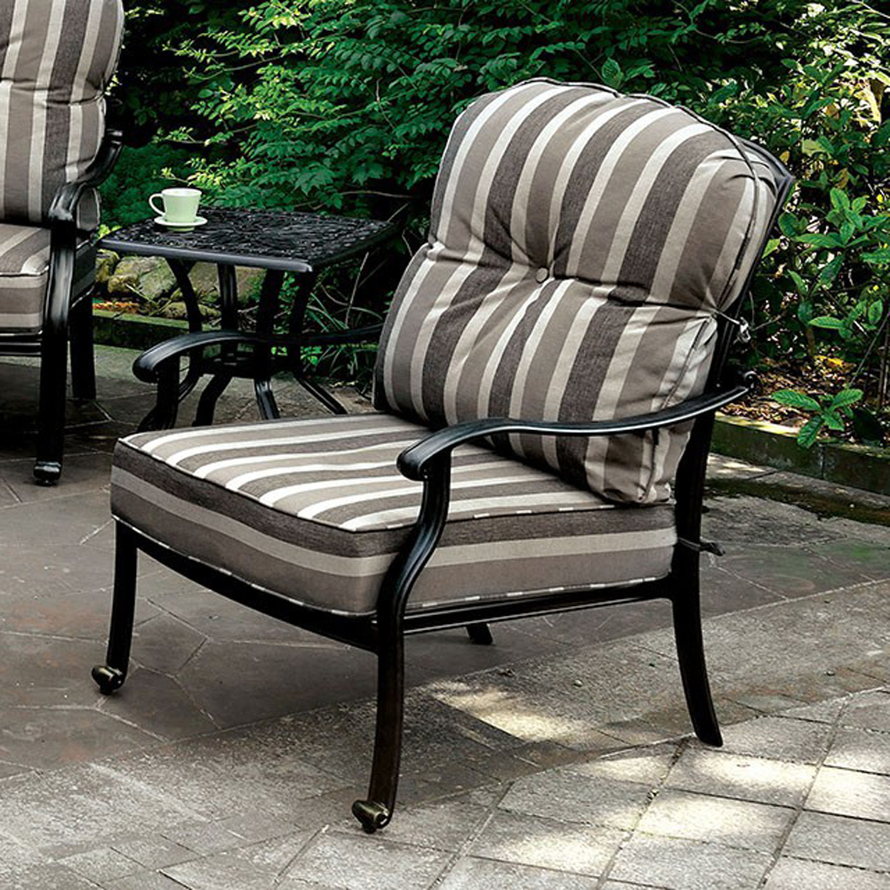 FERNANDA Transitional Chair, Antique Black, Set Of 2
