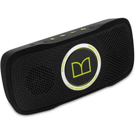 Monster SuperStar BackFloat High-Definition Bluetooth Speaker, Neon Green