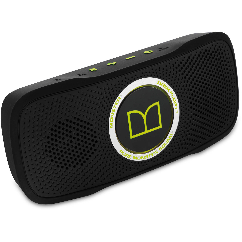 Monster SuperStar BackFloat High-Definition Bluetooth Speaker, Neon Green