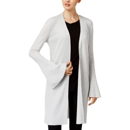 Marled Reunited Clothing Womens Bell Sleeve Textured Striped Cardigan Sweater ()