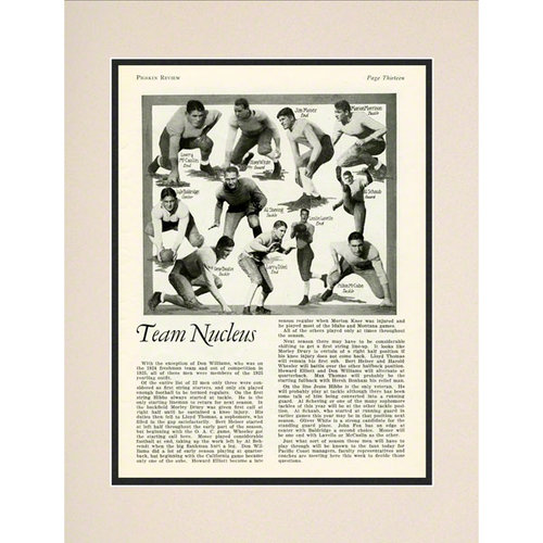 NCAA - Notre Dame Fighting Irish 10 1/2 x 14 Matted Historic Football Poster