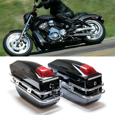 Professional Motorcycle Touring Cruiser Hard Trunk Saddle Bags Luggage