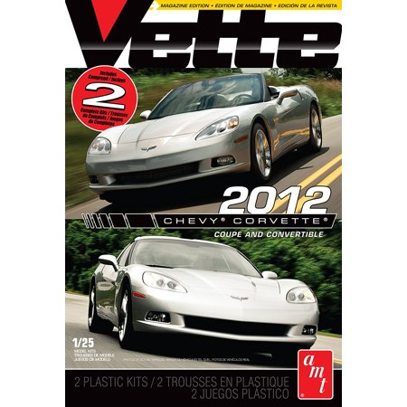 Vette Magazine 2012 Corvette Coupe and Convertible, Build 2 complete Showroom Replicas kits By AMT Ship from (Bayonetta Scarborough Fair Replica Gun For Sale)