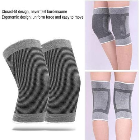 TOPINCN Le coton a tricoté les genouillères sportives chaudes élastiques de basket-ball de football de volley-ball en cours d'exécution de soutien de genoux, enveloppe de genou, appui de genou - image 6 de 8