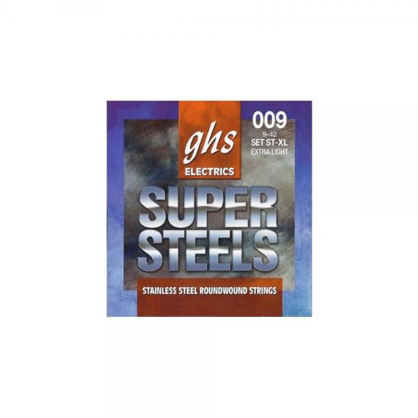 GHS ST-XL Extra Light Super Steels Electric Guitar Strings (9-42) by GHS