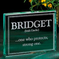 Personalized Name Meaning Glass Block