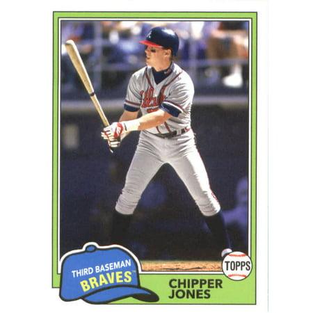 2018 Topps Archives #229 Chipper Jones Atlanta Braves Baseball Card Chipper Jones Atlanta Braves Baseball