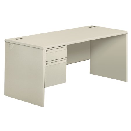 HON 38000 Series Right Pedestal Desk, 66w x 30d x 29-1/2h, Light - Hon 10500 Series Wood