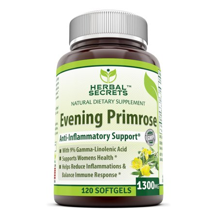 Herbal Secrets Evening Primrose  Oil 1300mg 120 Softgels (Efa Gold Evening Primrose Oil)