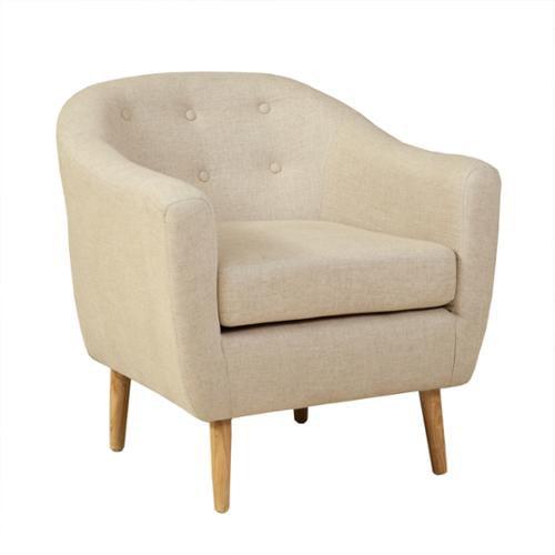 Denise Austin Home Chicago Beige Club Chair by GDF Studio