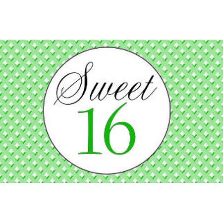Sweet 16 - 16th Birthday Edible Cake Decoration Photo Image Cake Topper - Bright Green - 16th Birthday Cake Ideas