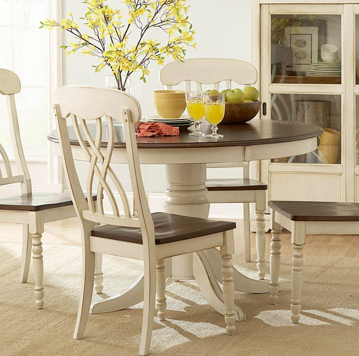 Homelegance Ohana Round Pedestal Dining Table in White & ...