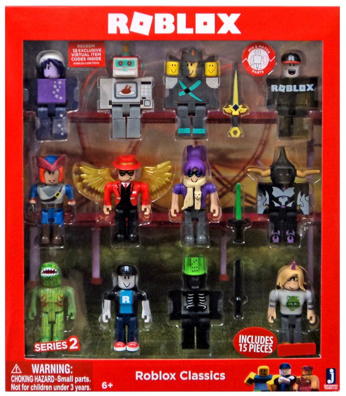 Roblox Series 1 Action Figures Complete Reference Guide Roblox Series 2 Roblox Classics Action Figure 12 Pack Includes 12 Online Item Codes Walmart Com Walmart Com