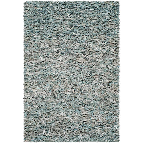 Safavieh Hand-Knotted Leather Shag Runner Rug
