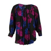 Alfani Women's Long Sleeve Floral Print Blouse