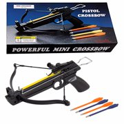 50 lb Pistol Hunting Archery Self Cocking Crossbow Crossbow bow + 5 Bolts Arrows 50lbs Mini Crossbow