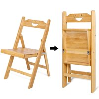 HURRISE Portable Bamboo Folding Chair, Foldable Desk Chair and Seat for Indoor / Outdoor, Foldable Chair,Folding Chair
