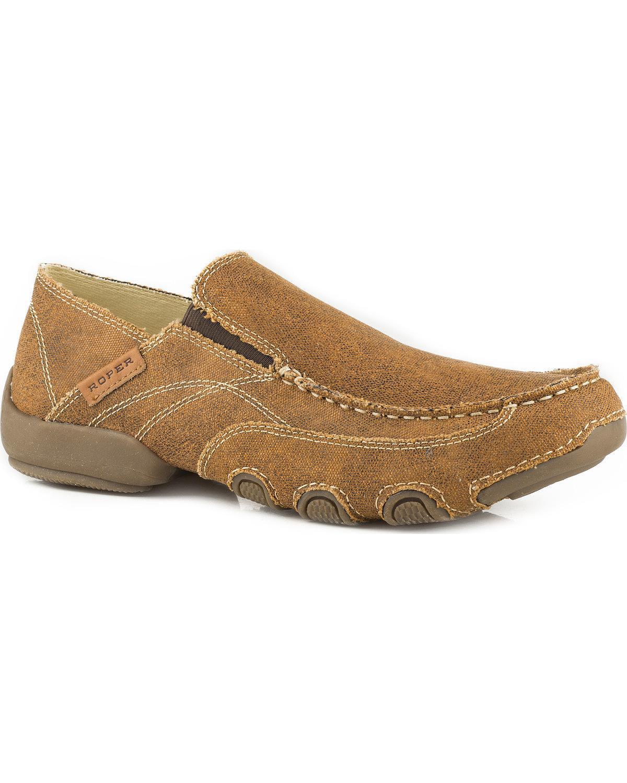 Roper Men's All Over Vintage Driving Moc Shoes - 09-020-1776-2038 Ta