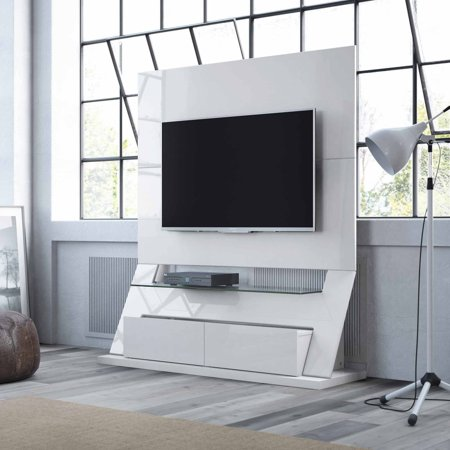 Manhattan Comfort Intrepid Freestanding Theater Entertainment Center for TVs up to 50″, Multiple Colors