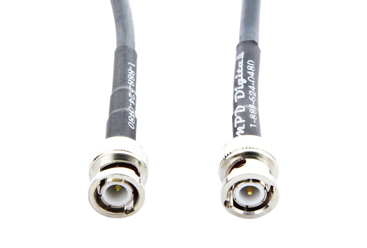 Tm RG-58 Coax Jumper Made in The U.S.A by MPD Digital RF Pigtail Cable BNC Male to Mini Uhf Male RG58 1M