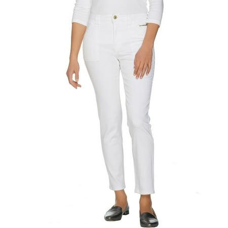 Isaac Mizrahi TRUE DENIM Colored Denim Ankle Jeans A289641 (True Angle)