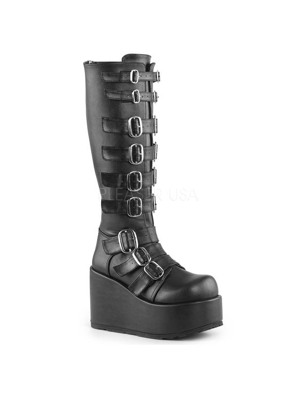 CON108/B/PU Demonia Vegan Boots Womens BLACK Size: 12