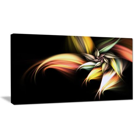 - Design Art Light Orange Pink Glossy Flower Large Floral Graphic Art on Wrapped Canvas