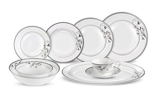 30 Piece Dinnerware Set-Bone China Service for 4-Viola by Lorren Home Trends