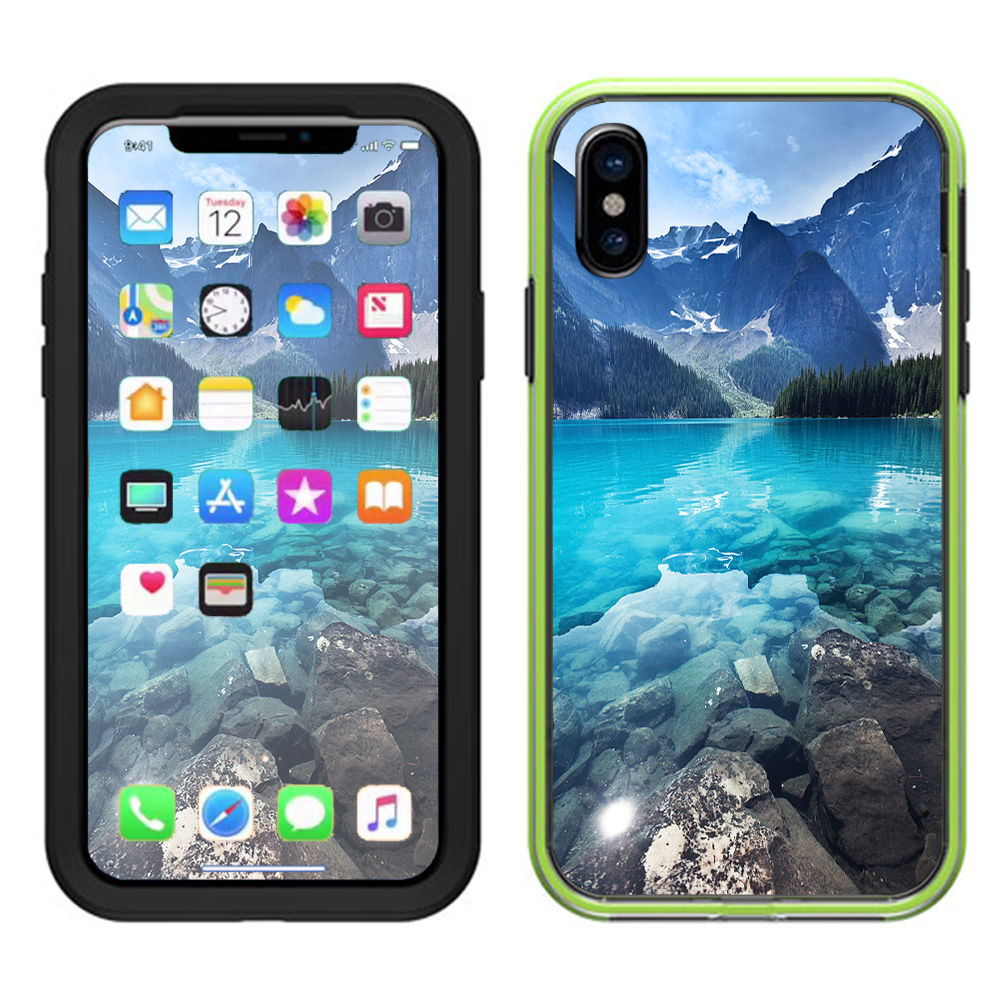 Skins Decals For Lifeproof Slam Iphone X Case  / Mountain Lake, Clear Water