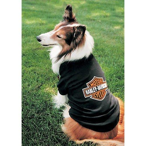 Harley-Davidson Bar & Shield Logo Pet Cotton-Blend T-Shirt - Black H2100 H BK1, Harley Davidson