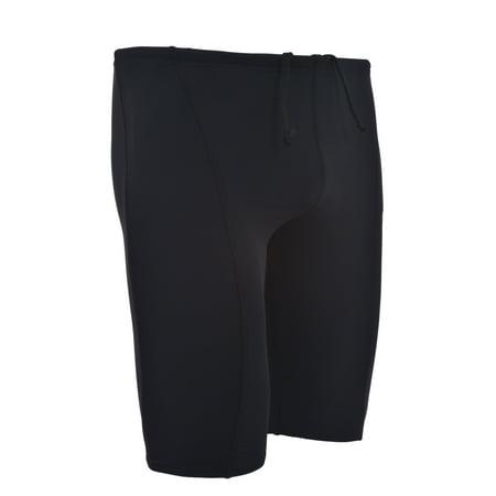 Men's Performance Swimsuit Racer Jammer - Durable Spandex Nylon Blend Comfortable Swimwear Training Many (Shocking Mens Swimwear)